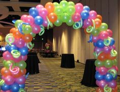 Party People Celebration Company - Special Event Decor Custom Balloon decor and Fabric Designs: Lake Gibson Neon Prom 2012 Orlando Marriott Glow In Dark Party, Glow Party, Neon Birthday, 13th Birthday Parties, Neon Sweet 16, Bash, Blacklight Party, Birthday Balloon Decorations, Sweet Sixteen Parties