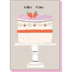 cake time, greeting card, birthday, girly, baking, type, collage, colour, illustration