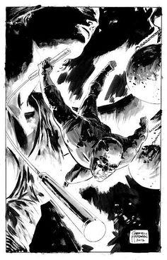 "failed-mad-scientist: ""Daredevil - Gabriel Hardman """