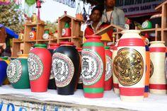 Warli art vases are on display at the Surajkund International Crafts Mela. International Craft, Stalls, Vases, Display, Crafts, Art, Floor Space, Art Background, Manualidades