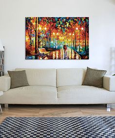 Look at this Leonid Afremov Rain's Rustle II Wrapped Canvas on #zulily today!