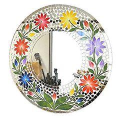 バリ キッチン | Amazon.co.jp: 壁掛け バリ ... Mosaic Tile Art, Mosaic Artwork, Mirror Mosaic, Mosaic Diy, Mosaic Crafts, Mosaic Projects, Mosaic Glass, Mosaic Designs, Mosaic Patterns