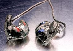 Custom in ear monitors. You have to go get a mold taken of your ear and then they make this monitor to fit your ear ONLY. 2 lows, 2 mids, and 2 highs. Amazing product!