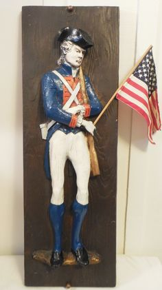 44611a967480 3D Fiberglass Art Revolutionary Soldier 35 1 2