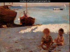 Beach at Capri - John Singer Sargent - www.johnsingersargent.org