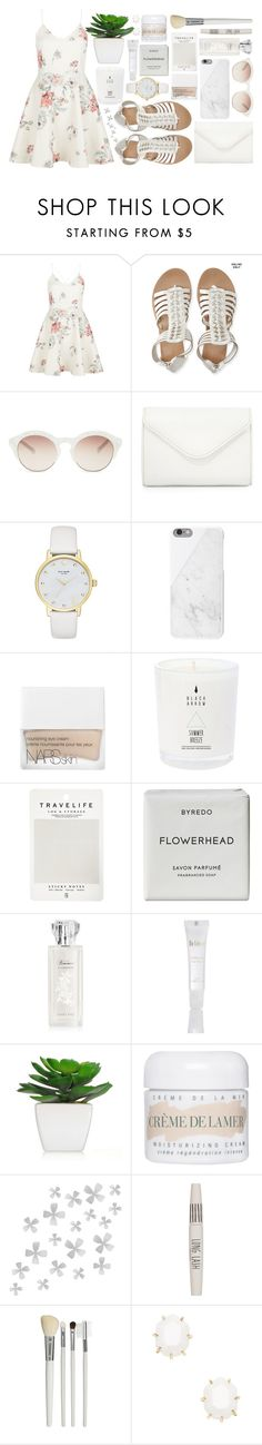 """""""Summer Sandals"""" by antisocial-vagabond ❤ liked on Polyvore featuring New Look, Aéropostale, self-portrait, Neiman Marcus, Kate Spade, Native Union, NARS Cosmetics, Mark's Tokyo Edge, Byredo and La Mer"""
