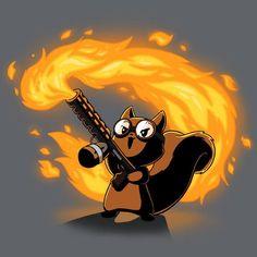 Pyromaniac Squirrel T-Shirt TeeTurtle