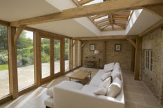 wow out building living/guest room Cottage Extension, House Extension Design, House Design, Extension Ideas, Garden Room Extensions, House Extensions, Oak Framed Extensions, Oak Frame House, Contemporary Barn