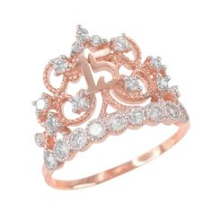 Looking for Quinceanera Jewelry White Gold CZ-Studded Crown Sweet 15 Anos Quinceanera Ring ? Check out our picks for the Quinceanera Jewelry White Gold CZ-Studded Crown Sweet 15 Anos Quinceanera Ring from the popular stores - all in one. Morganite Engagement, Rose Gold Engagement Ring, Engagement Ring Settings, Vestido Rose Gold, Sweet 15, Diamond Bands, Unique Rings, Fine Jewelry, Gold Jewelry