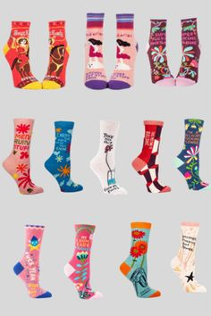 Women's Sock Wardrobe - Collection of 12 Best Selling Socks at Shop.GetBullish.com