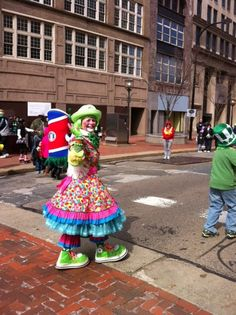 Sneakers enjoying the Akron St. Patty's Day parade