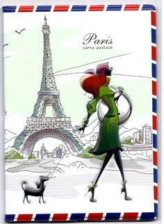 Paris Airmail Passport Holder