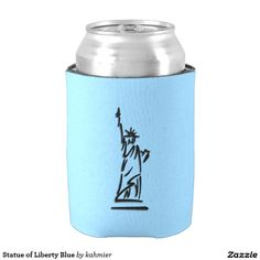 Statue of Liberty Blue Can Cooler