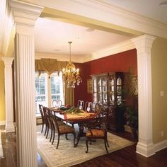 Column Ideas On Pinterest Columns Dining Rooms And