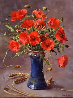 Poppies - Limited Edition Print   Mill House Fine Art – Publishers of Anne Cotterill Flower Art