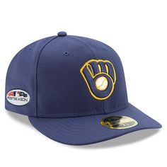 Men s Milwaukee Brewers New Era Navy 2018 Postseason Alternate Side Patch  Low Profile 59FIFTY Fitted Hat ae14990f361