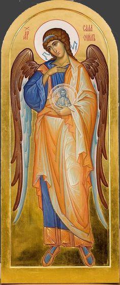 Archangel Selaphiel [Salaphiil] / Byzantine Icons, Byzantine Art, Religious Icons, Religious Art, Seraph Angel, Russian Icons, Archangel Michael, God Pictures, Catholic Art