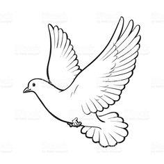 draw a dove outline at DuckDuckGo Outline Drawings, Bird Drawings, Pencil Art Drawings, Art Drawings Sketches, Dove Sketches, Dove Outline, Dove Drawing, Dove Tattoo Design, Dove Tattoos