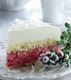 Lingonberry-Cocoa Cake - Hyydytetty puolukka-kookoskakku