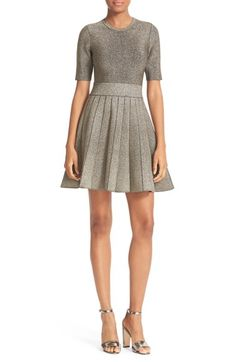 A.L.C. Susana Metallic Knit Fit & Flare Dress available at #Nordstrom