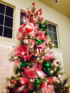 Candy Christmas Tree up close-