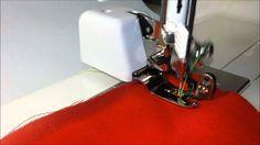 Como usar o calcador de overloque em sua máquina de costura