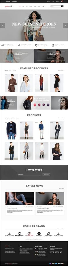 Shopppie is a clean and elegant design #WooCommerce #WordPress Theme for awesome #eCommerce website with 2 unique homepage layouts download now➩  http://www.shareasale.com/r.cfm?B=815414&U=1611319&M=37723&urllink=