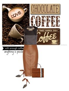 """Coffee & chocolate"" by noconfessions ❤ liked on Polyvore featuring Coffee Shop, WALL, Bailey 44, Tomasini, Ted Baker and Paul Andrew"