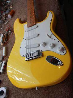 Fender Stratocaster Plus Body Colour - Graffiti Yelllow. Image from Xhefri's Guitars