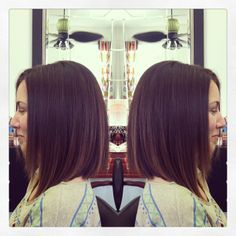 long angled bob side view - Google Search