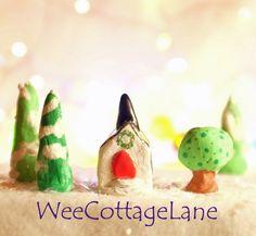 Mini Christmas Church, Mini Church, Tiny Church, Ceramic Church, Mini Cottage, Miniature Cottage, Wee Cottage Lane, Tiny Home, MiniHome