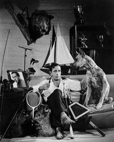 Humphrey Bogart and his dog