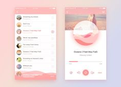 Pink Music——App interface on Behance. If you like UX, design, or design thinking, check out theuxblog.com