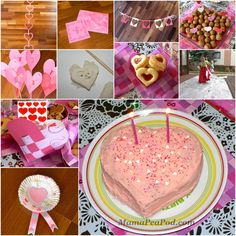 Pink and Red Heart Themed Party Ideas