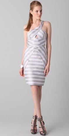 Love the cutout and neckline  Cushnie et Ochs  Cutout Striped Dress