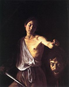 """CARAVAGGIO Michelangelo Merisi - Italian (Milan 1571 - - """"David with the Head of Goliath"""". Caravaggio painted himself as Goliath; besides there exists a theory that David is also a portrait of Caravaggio, but as a young man! Chiaroscuro, Baroque Painting, Baroque Art, Italian Baroque, Italian Painters, Italian Artist, David Et Goliath, Michelangelo Caravaggio, Art History"""