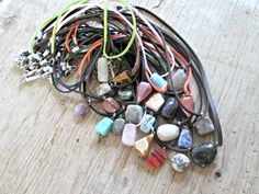 Stone Necklace  Healing Crystals and Stones  by EarthChildArt