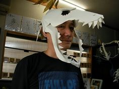 Easy dinosaur mask - YouTube