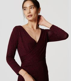 Thumbnail Image of Color Swatch 6600 Image of Side Shirred Wrap Dress