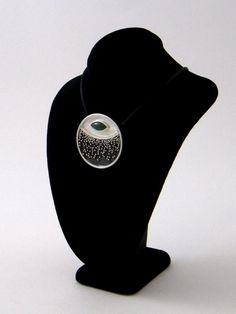 Green Jade Granulation Pendant In Sterling by Lesley Dipiazza. Come see more of her work at 3rd Annual Vintage Jewelry Sale & Tea A showcase of Vintage and Artisan Jewelry, Saturday, February 7th, 2015 at The Community House, Birmingham, MI