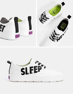 Men s slogan sneakers - Bershka  fashion  product  shoes  zapatos  cool   de1be42e9ff