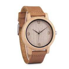 Leather Strap Wooden Watch - Great Gift! | Shop Family Gift #Engraved #Wooden #watches - Great #Gift