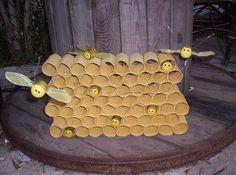 Honingraat - bijen