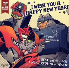 Transformers Prime - Knock Out & Breakdown Wish You a Happy New Year. #TransformersPrime #TFP #TV_Show