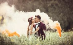 wedding smoke bomb by MelihSuren