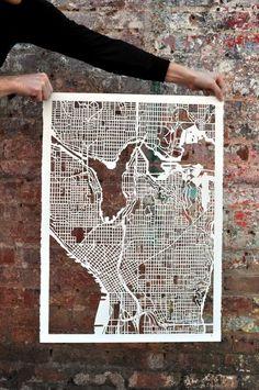 seattle mapcut. brilliant.