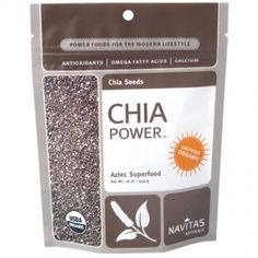 Chia Seeds...richest known plant source of omega-3s