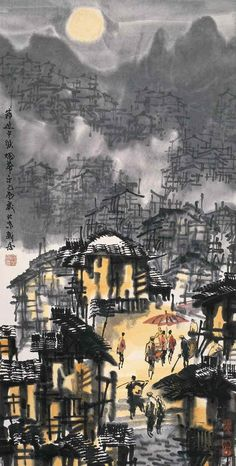 Chinese artis Xuzhen Wu (b1940 In Shaoxing, China)