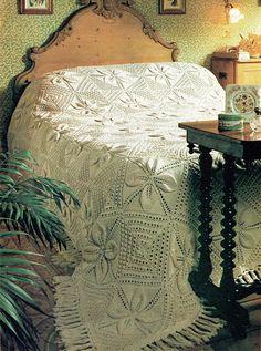 PDF Vintage  Knitting Pattern  Bed Spread 1970s Pretty Victorian Bed, Knitting Patterns, Crochet Patterns, Retro Bedrooms, Retro Room, Crochet Bedspread, Pretty Bedroom, Retro Home Decor, Vintage Knitting