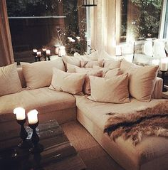 deep couches living room. Essentially  this is the kind of sitting room I want Deep couch with lots pillows Our Love Lounge Crates Barrels and sofa
